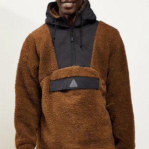 huf andes sherpa fleece jacket (nwot)